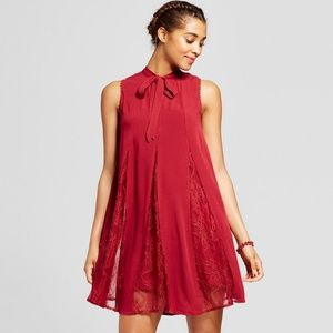 Red Lace Flowy Dress